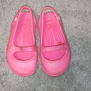 Toddler Girl Crocs Slip On Pink Shoe Size 4